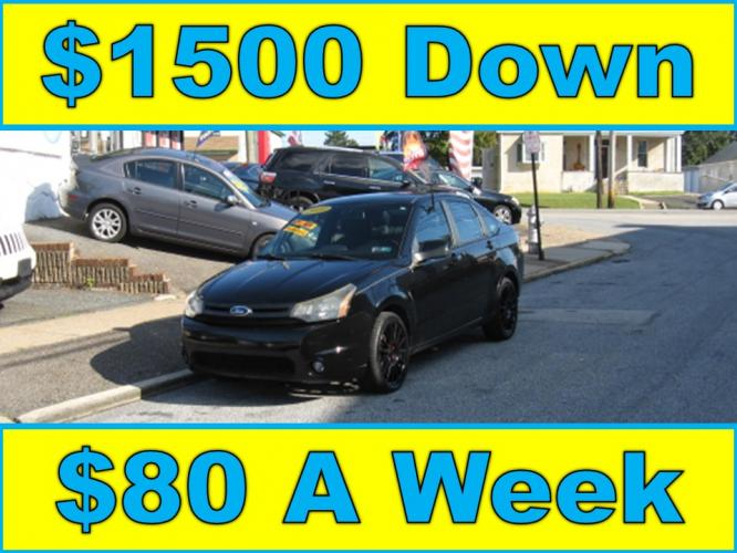 2010 Black /Black Ford Focus SES Sedan (1FAHP3GN7AW) with an 2.0L L4 DOHC 16V engine, Automatic transmission, located at 577 Chester Pike, Prospect Park, PA, 19076, (610) 237-1015, 39.886154, -75.302338 - Photo #0
