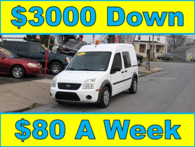 2010 White /Gray Ford Transit Connect XLT (NM0LS6BN9AT) with an 2.0L L4 DOHC 16V engine, 4-Speed Automatic transmission, located at 577 Chester Pike, Prospect Park, PA, 19076, (610) 237-1015, 39.886154, -75.302338 - Photo #0