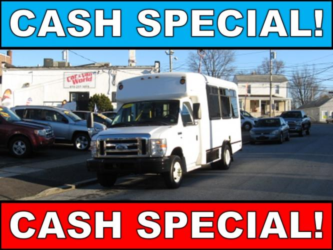 2013 White /Gray Ford Econoline E350 (1FDEE3FL2DD) with an 5.4L V8 SOHC 16V FFV engine, Automatic transmission, located at 577 Chester Pike, Prospect Park, PA, 19076, (610) 237-1015, 39.886154, -75.302338 - Photo #0