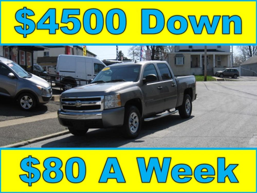 2008 Gray /Gray Chevrolet Silverado 1500 LS Crew Cab (3GCEC13CX8G) with an 4.8L V8 OHV 16V engine, 4-Speed Automatic Overdrive transmission, located at 577 Chester Pike, Prospect Park, PA, 19076, (610) 237-1015, 39.886154, -75.302338 - Photo #0