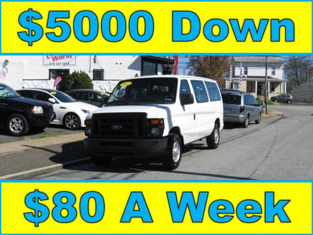 2012 White /Gray Ford E-Series Van E-250 (1FTNE2EW1CD) with an 4.6L V8 SOHC 16V engine, 4-Speed Automatic transmission, located at 577 Chester Pike, Prospect Park, PA, 19076, (610) 237-1015, 39.886154, -75.302338 - Photo #0